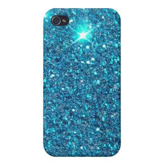 Extravagant Blue Glitter Shine iPhone 4/4S Cases