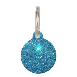 Extravagant Blue Glitter Shine Pet Nametags