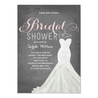 Extravagant Dress Chalkboard | Bridal Shower 13 Cm X 18 Cm Invitation Card