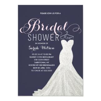 Extravagant Dress Custom Color | Bridal Shower 13 Cm X 18 Cm Invitation Card