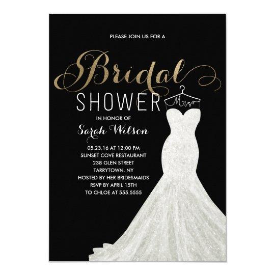 Extravagant Dress Gold Custom Colour| Bridal Card