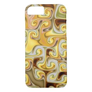 Extravagant golden Fractal Design iPhone 7 Case