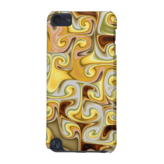 Extravagant golden Fractal Design iPod Touch (5th Generation) Cases