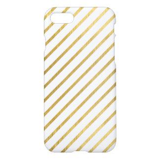 Extravagant golden Stripes Design iPhone 7 Case