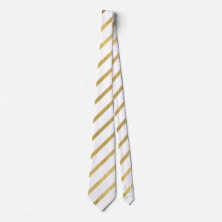 Extravagant golden Stripes Design Tie
