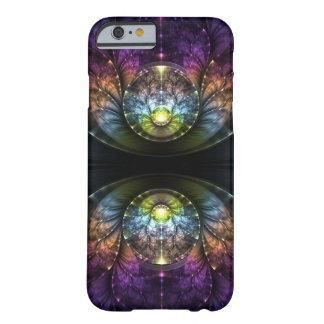 Extravagant purple Fractal Art Barely There iPhone 6 Case