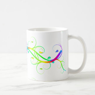 Extravagant Rainbow Flourishes Basic White Mug