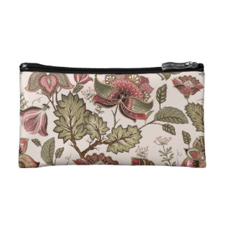 Extravagant red Flower Pattern Design Cosmetic Bag