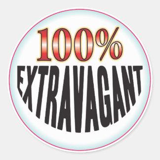 Extravagant Tag Round Sticker