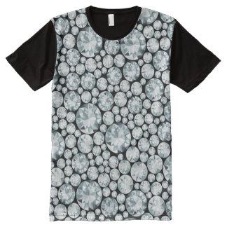 Extravagant white Diamond Pattern All-Over Print T-Shirt