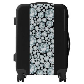 Extravagant white Diamond Pattern Luggage