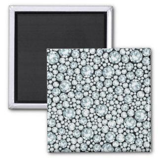 Extravagant white Diamond Pattern Square Magnet