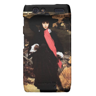 Extravagant young lady painting droid RAZR cover