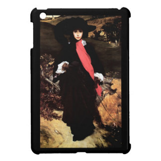 Extravagant young lady painting iPad mini case
