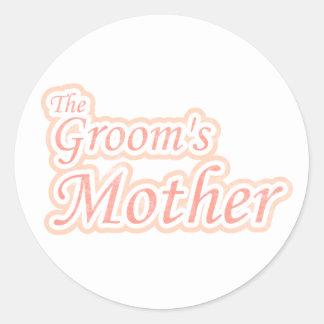 Extravaganza Groom s Mother Round Stickers