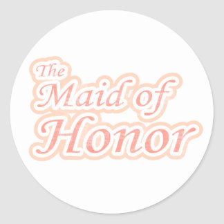 Extravaganza Maid of Honor Classic Round Sticker