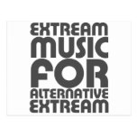 Extream Music - Alternative people funny humour Postcard
