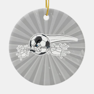 extreme aggressive soccer ball biting net christmas tree ornaments