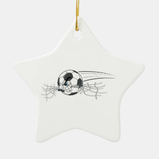 extreme aggressive soccer ball biting net ceramic star decoration