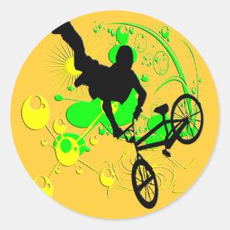 Extreme Biking Classic Round Sticker