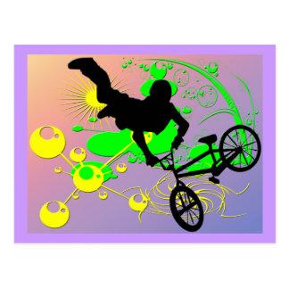 Extreme Biking Postcard