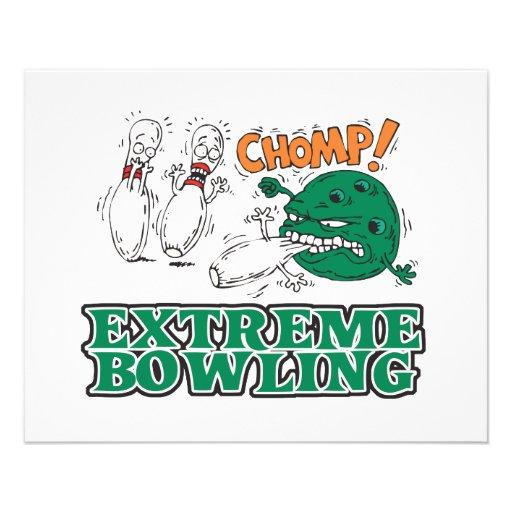 extreme bowling savage ball flyer design