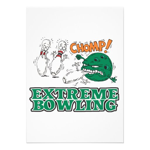 extreme bowling savage ball personalized announcement