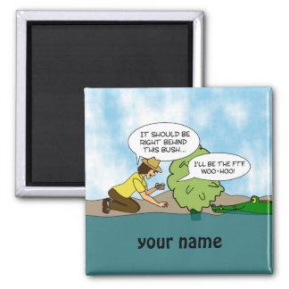 Extreme Cache Geocaching Cartoon Custom Name Magnets