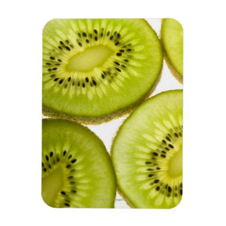 Extreme close-up of four pieces of sliced kiwi rectangular photo magnet