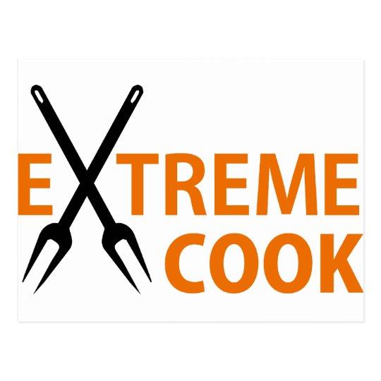 extreme cook postcard