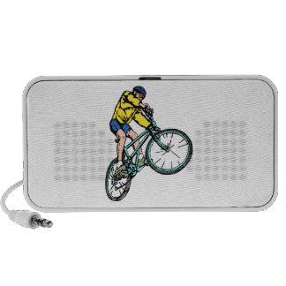 Extreme Cyclist Graphic Art Doodle Laptop Speaker