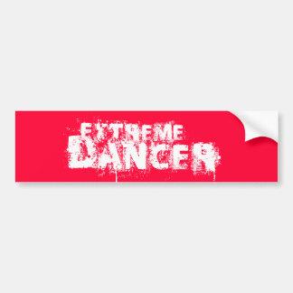 Extreme Dancer Whire Bumper Sticker