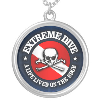 Extreme Dive (Skull) Personalized Necklace