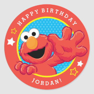 Extreme Elmo Birthday Round Sticker