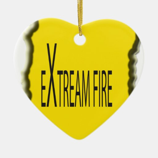 Extreme Fire Christmas Tree Ornaments