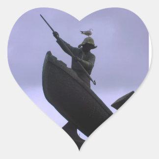 Extreme Fisherman Heart Sticker