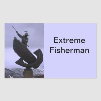 Extreme Fisherman Rectangular Sticker