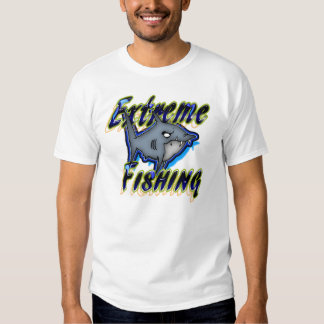 Extreme Fishing Grumpy Shark Design T-shirt