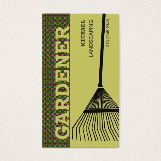Extreme Gardening Rake Business Card