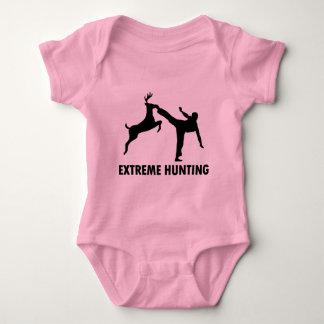 Extreme Hunting Deer Karate Kick Baby Bodysuit
