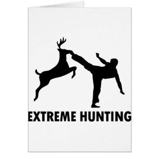 Extreme Hunting Deer Karate Kick Card