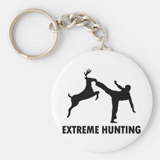 Extreme Hunting Deer Karate Kick Key Chain