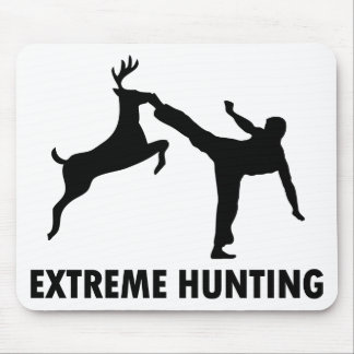 Extreme Hunting Deer Karate Kick Mouse Mat