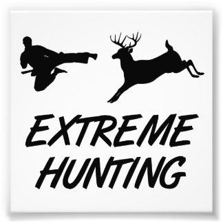 Extreme Hunting Karate Kick Deer Art Photo