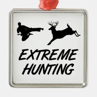 Extreme Hunting Karate Kick Deer Christmas Ornament