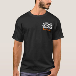 Extreme Ironing Lineup Pocket Temp Dark T-shirt