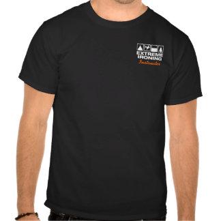 Extreme Ironing Lineup Pocket Temp Dark T-shirt