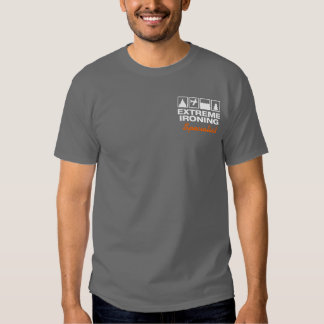 Extreme Ironing Specialist Dark T-shirt Template