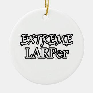 Extreme Larper Round Ceramic Decoration
