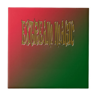 Extreme Magic With Background Small Square Tile